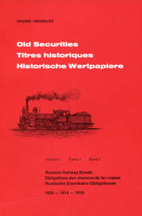 Old Securities Volume 1 Russian Railway Bonds WEB