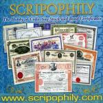 Scripophily-com ad for the web site