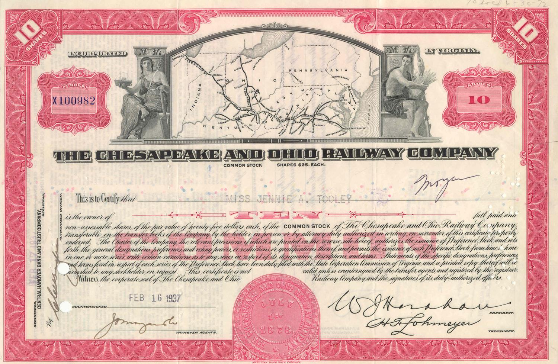 US- Chesapeake and Ohio Railway Company WEB